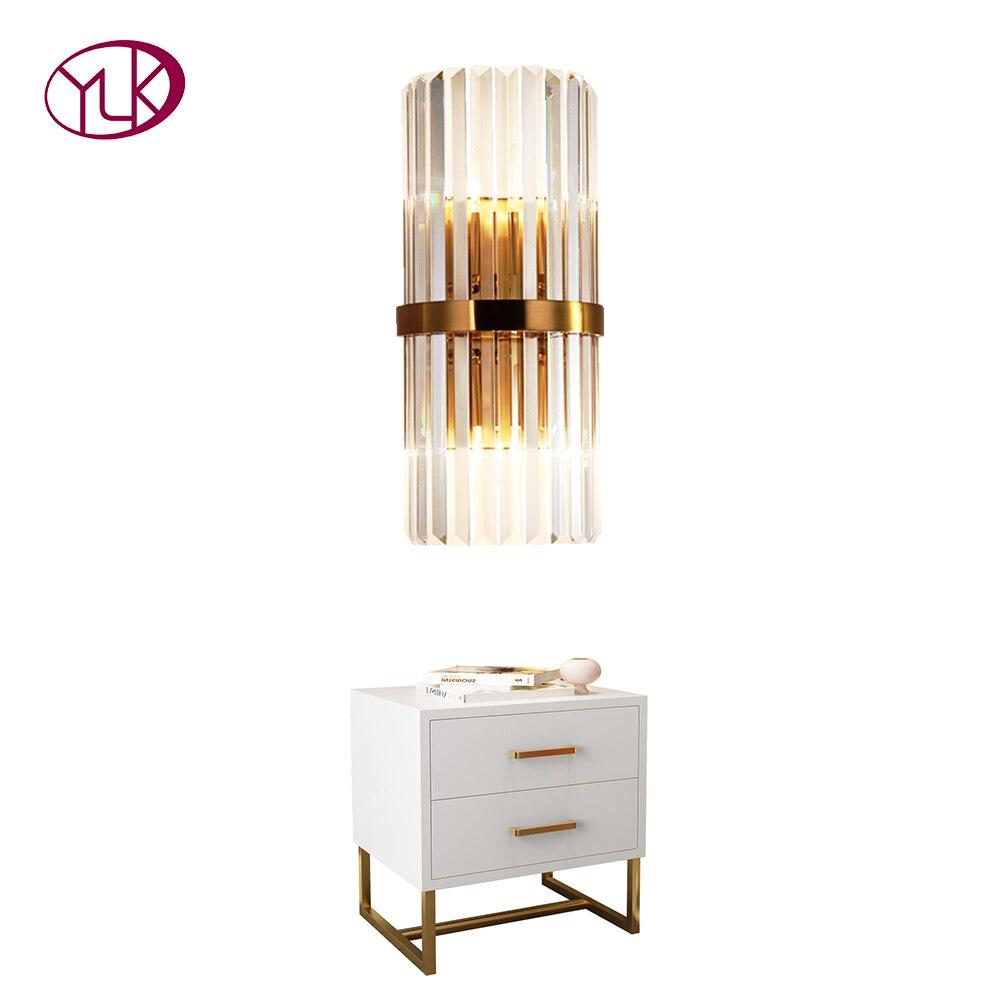 Youlaike Modern LED Crystal Wall Light Creative Design Gold Home Decoration Lighting Fixture Bedroom Hallway Wall