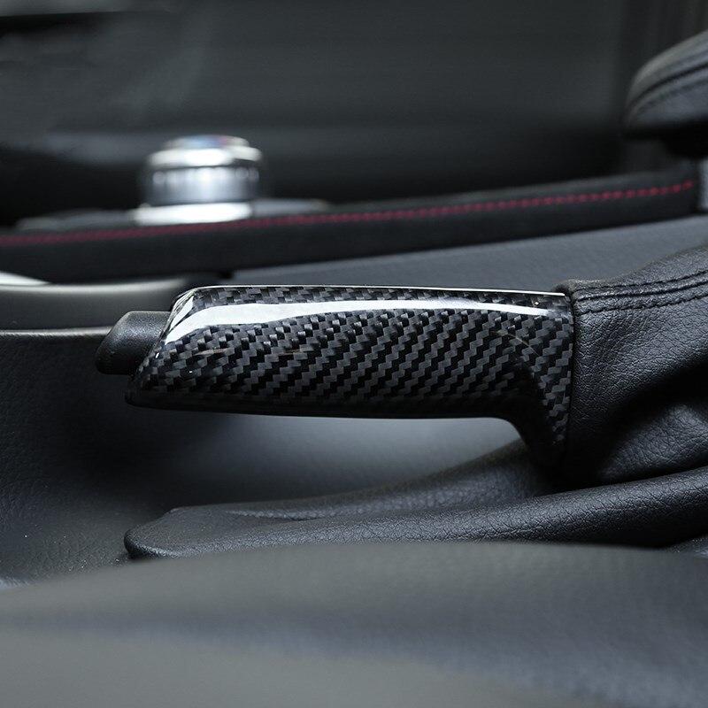 Couvercle de frein à main en Fiber de carbone pour BMW 3/4 série X1 M3 M4 F80 F82 F48 E84 E90 F30 F31 F34 décalcomanies de tige de traction de voiture