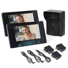 """HBUDS Fio Campainha de Vídeo de 7 """"Fio Monitor a Cores Night Vision Doorbell Camera 1 pcs Ir Câmera À Prova D' Água Casa Inteligente"""