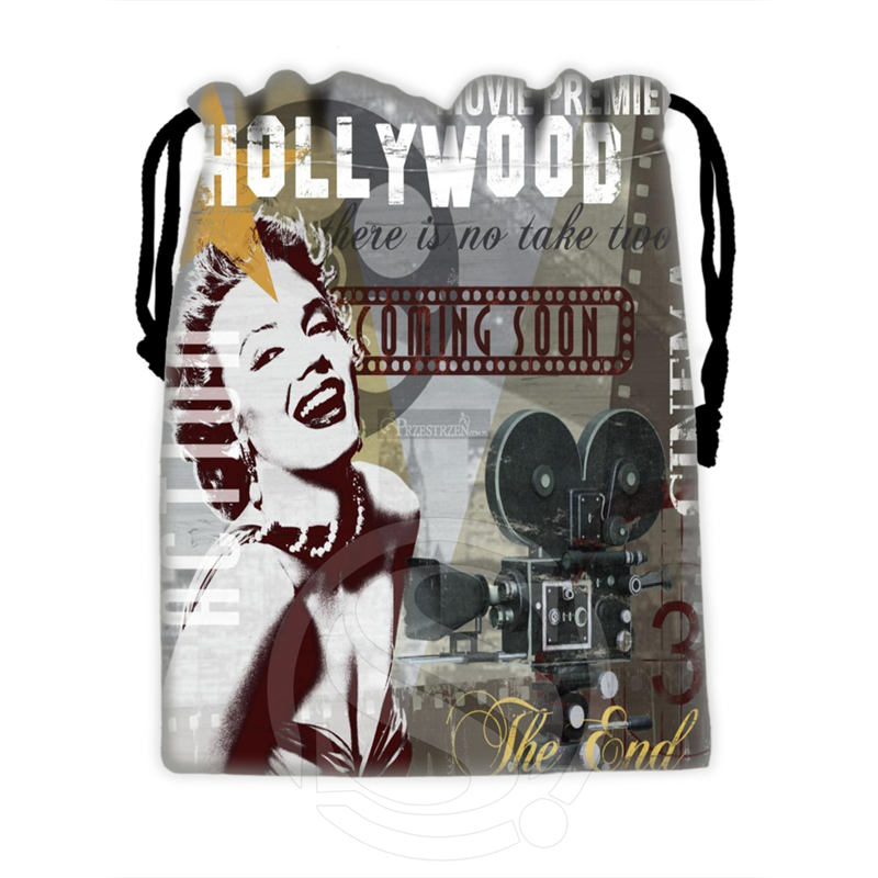 H-P743 Custom Marilyn Monroe Collage#2 Drawstring Bags For Mobile Phone Tablet PC Packaging Gift Bags18X22cm SQ00806#H0743