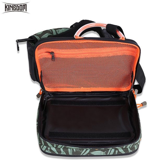 Kingdom 2019 New Waterproof Fishing Bag Large Capacity Multifunctional Fishing Lure Box Tackle Backpack Outdoor Shoulder Bags 5