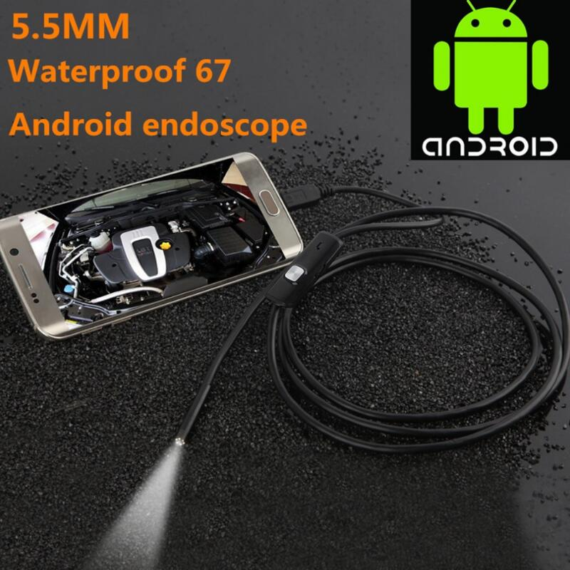 LESHP 6LED 5.5mm 1/1.5/2/3.5/5M Lens Endoscope Waterproof Inspection Borescope For Android Focus Camera Lens USB Cable Endoscope