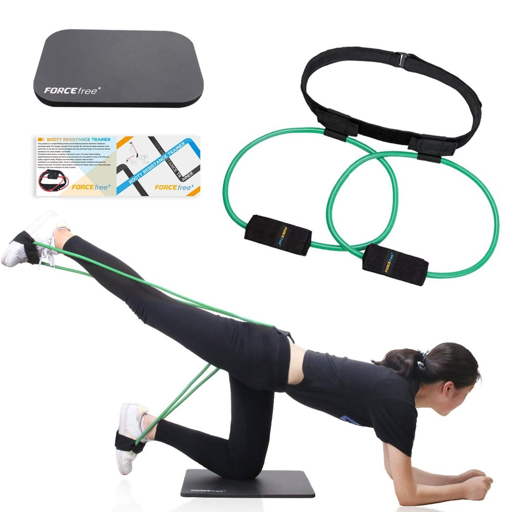 Fitness Women Booty Butt Band Resistance Bands Adjustable Waist Belt Pedal Exerciser for Glutes Muscle Workout Free Bag 18