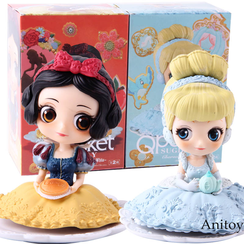 Q Posket Sugirly Characters Princesses Cinderella Snow White Action Figure Collectible Model Toy Gift For Kid