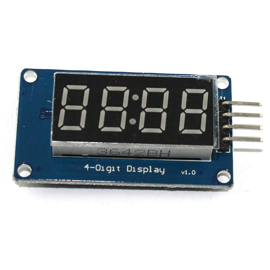 10 шт. TM1637 светодиодный Дисплей модуль для Arduino 7-сегментный 4 биты 0,36 дюйма часы красный анод цифровой трубки четыре последовательный драйвер...