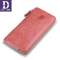DIDE Wallet For Women Genuine Leather Wallets Long Ladies Style Clutch Purse Soft zipper Coin Card Holder Bag carteira feminina