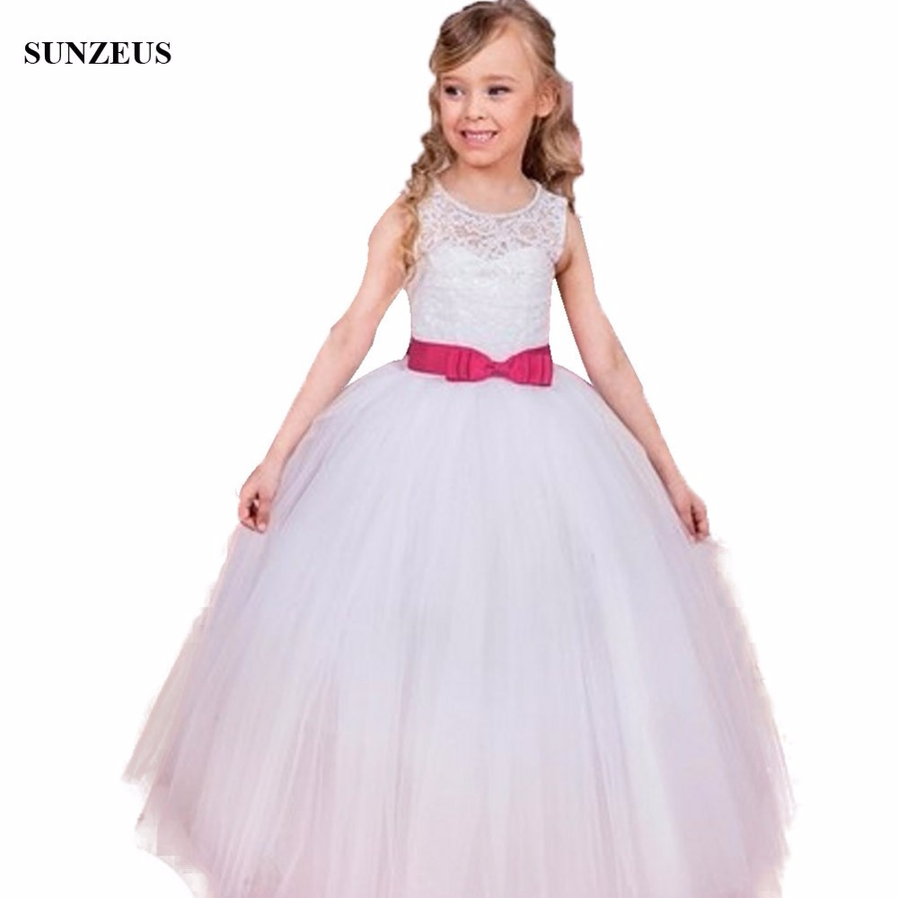 First Communion Dresses For Girls Ball Gown Lace Bodice Long Puffy ...