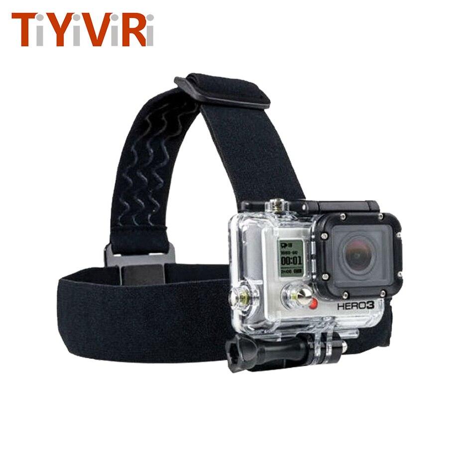 TiYiViRi For Go Pro Accessories Action Camera Tripod Headband Head Strap Professional Mount Helmet For SJCAM Sport Cam