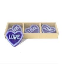 3pcs/set rose heart shape decorative candles Romantic decoration mariage craft candle party supplies