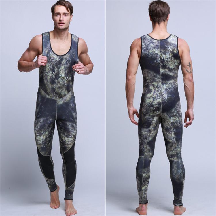 Men\'s 5mm SCR Full Suit Camouflage two Piece Splicing Diving Suits Surfing snorkel swimsuit Split Suits combinaison surf wetsuit (4)