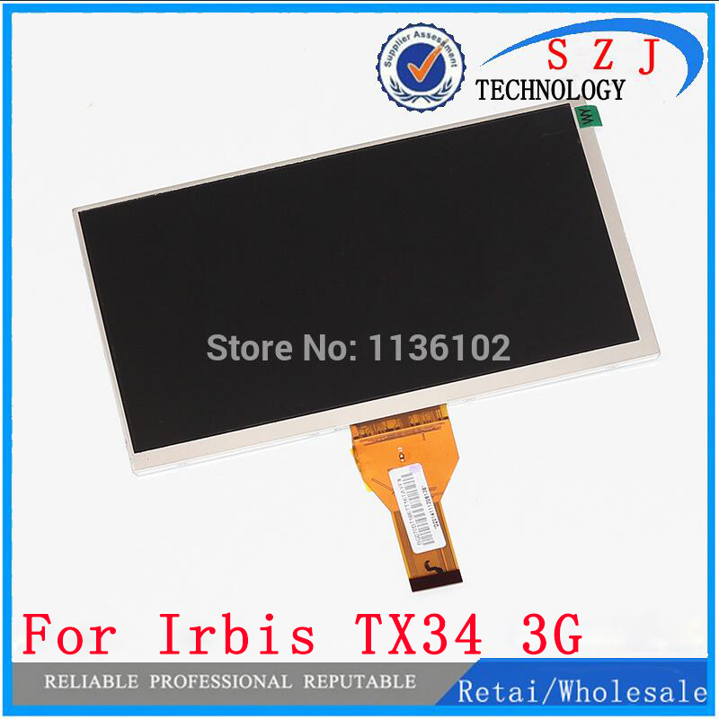New 7 inch Tablet pc Irbis tx70 Irbis TX34 3G LCD Display Matrix 1024*600 TFT LCD Screen Panel replacement Free Shipping original 7 inch lcd display kr070lf7t for tablet pc display lcd screen 1024 600 40pin free shipping 165 100mm