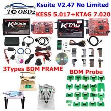 Free shipping Red EU KTAG V7.020 V2.25 KESS V5.017 V2.53 Online Version LED BDM Frame BDM Probe 22pcs BDM100 FGTECH V54 Galletto