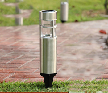 Linterna Солнечный из нержавеющей стали водонепроницаемый светодиодный солнечный свет Ландшафтные светильники для дорожки украшения сада лам...