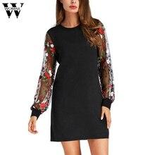 4e23f6437d464 Womail Elbise Çuha Noel Elbise Düzenli Vestidos Güzel Ucuz Bayan Botanik  Işlemeli Zarif Fener 16
