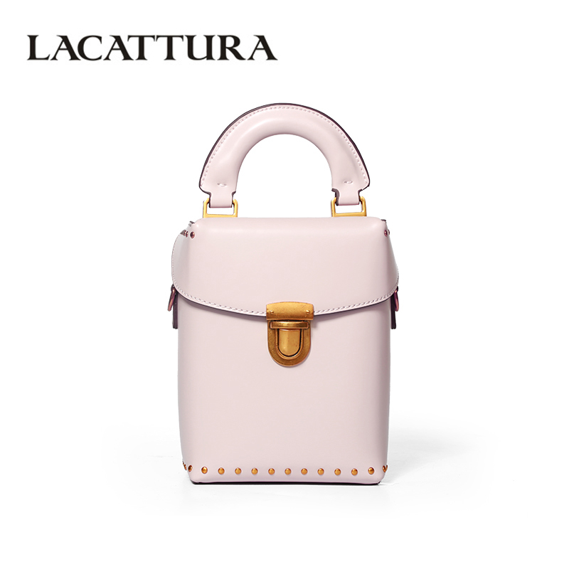 LACATTURA Luxury Bucket Handbag Small Women Leather Shoulder Bag Crossbody for Lady Fashion Totes Messenger Bags Lovely Clutch 2016 women fashion brand leather bag female drawstring bucket shoulder crossbody handbag lady messenger bags clutch dollar price