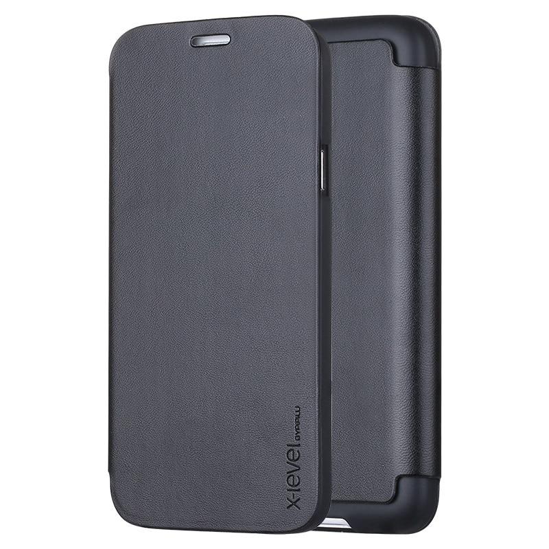 imágenes para X-LEVEL para Samsung S5/S5 Neo Teléfono Delgado Folio Cubierta de Cuero de LA PU Del Caso Del Soporte para la Galaxia S5 G900