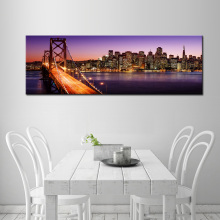 HD Print Brooklyn Bridge Skyline Night Canvas Painting