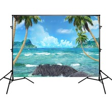 Mehofoto Photography Background Sea Beach Summer Holiday Backdrop Wave Sky Island Photocall Support Custom Backgrounds