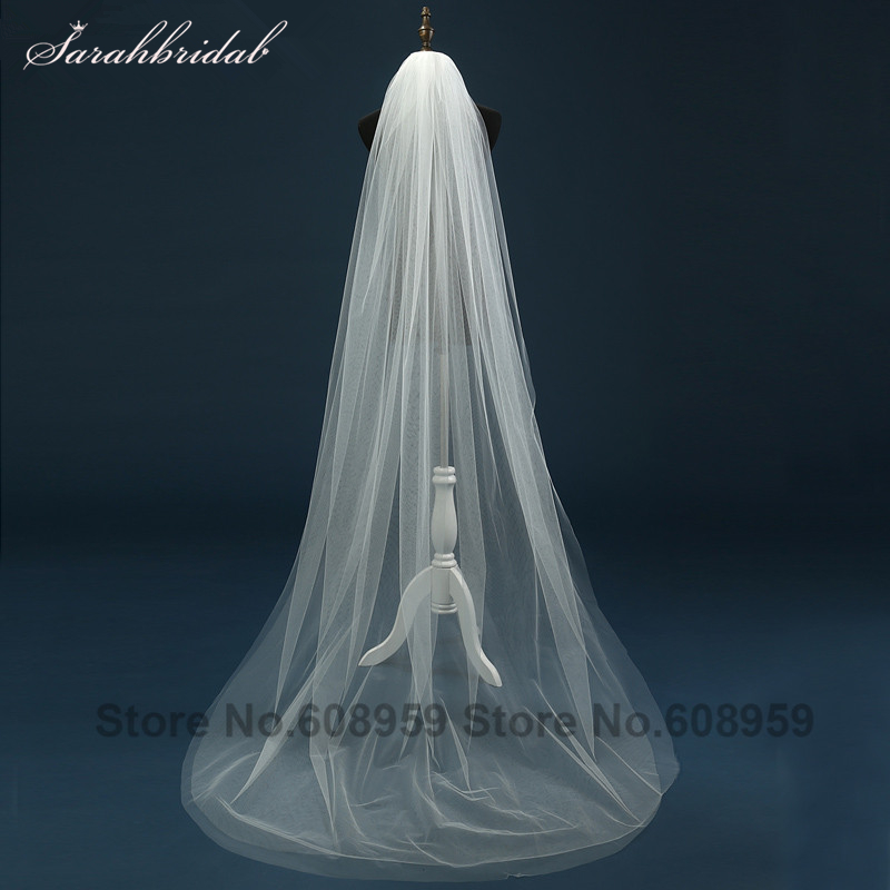 Simple Style 2 Layers Tulle Cut Edge Elbow Length Short Wedding Veil for Wedding Dress Bridal