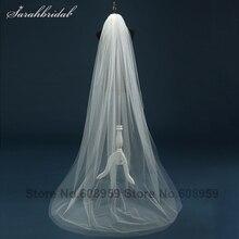 Простой стиль 2 слоев тюля с Край Локоть Длина короткие свадебная фата для свадебное платье фата Свадебные аксессуары 11059b