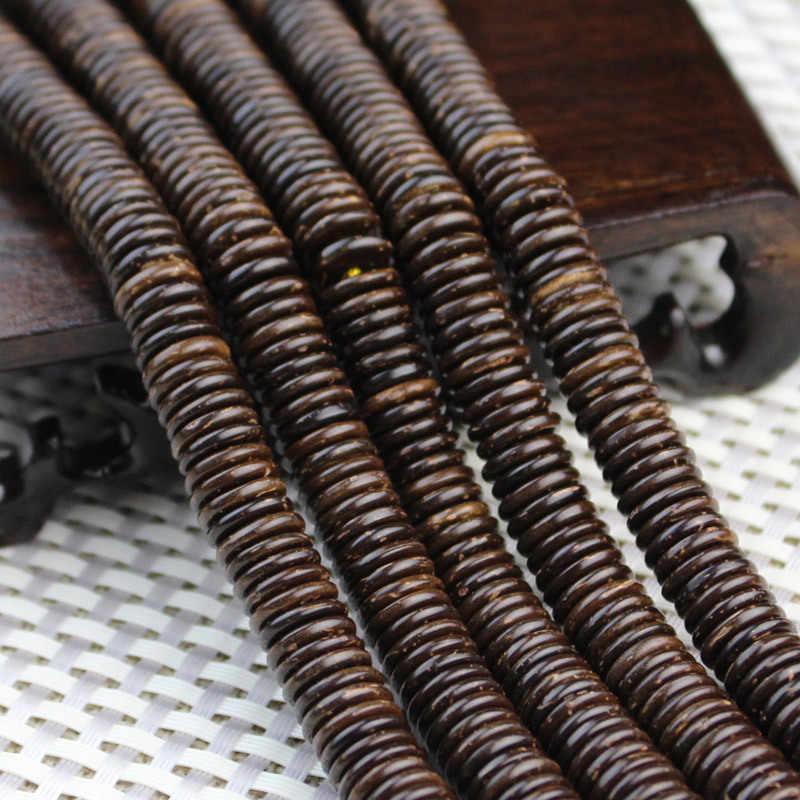 Naturalne kokosowe koraliki elementy dystansowe 6/8/9/10/12mm 100 sztuk koraliki dużo oryginalny kolor dla bransoletka Zrób To Sam tworzenia biżuterii