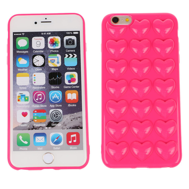 US $5 34 |For i6/6s Korean peach heart Jelly phone case Candy soft silicone  TPU Love case shell back cover for iphone 6 6s 4 7 on Aliexpress com |