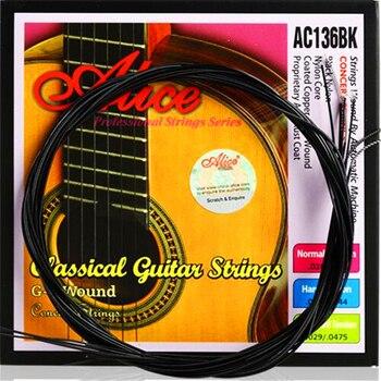 Un conjunto completo de cuerdas de guitarra clásica negra cuerdas guitarra clásica instrumentos musicales accesorios de guitarra piezas de guitarra