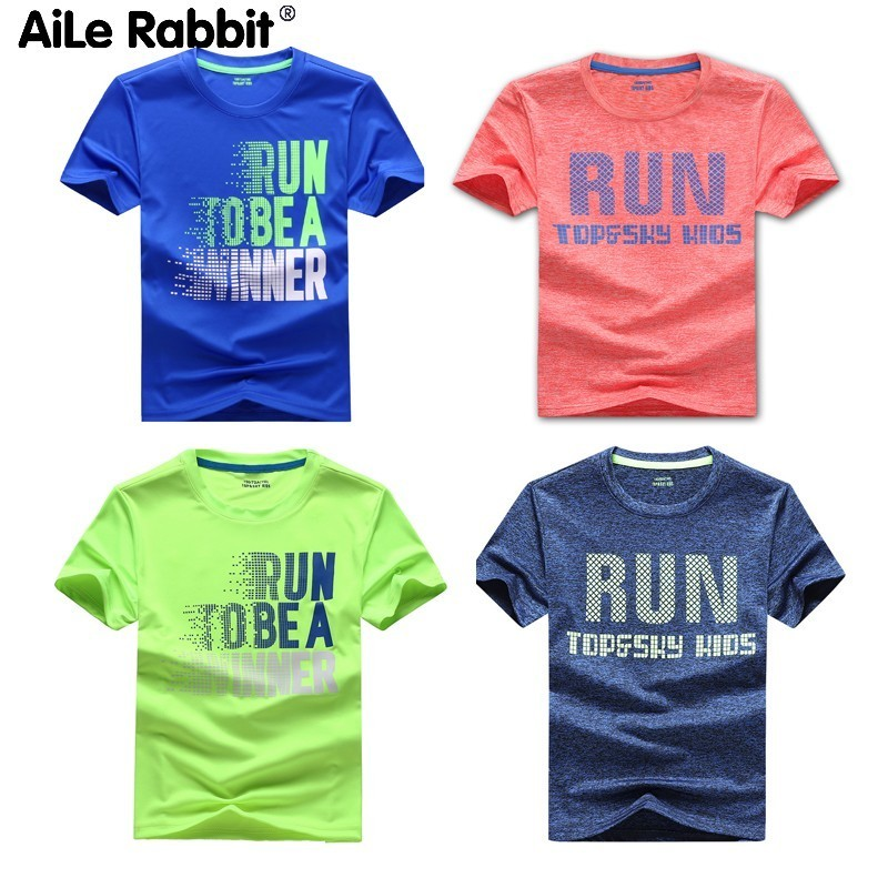 T-Shirt Short-Sleeve Teen Baby-Boys Running Kids Children Summer Quick-Drying