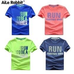 Быстросохнущая футболка для мальчиков; летние детские спортивные топы; детская одежда для подростков; футболка для бега для маленьких маль...