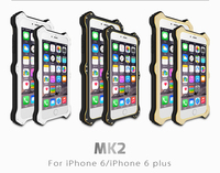 LOVE MEI MK2 Wireless Charging Metal Aluminum Phone Cases Cover Luxury Leather Flip Case For IPhone