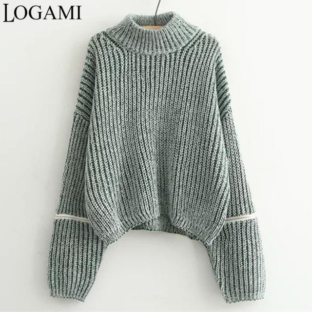 Winter Autumn Pullover Women Sweaters And Pullovers Jumper Casual Loose Zipper Sweater Maglioni Invernali Donna Pull Femme Mode