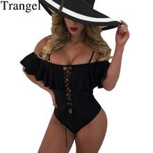 Trangel  Swimsuit One Piece Swimwear Women For Girls Solid Bather Female Sexy Bikini 2019