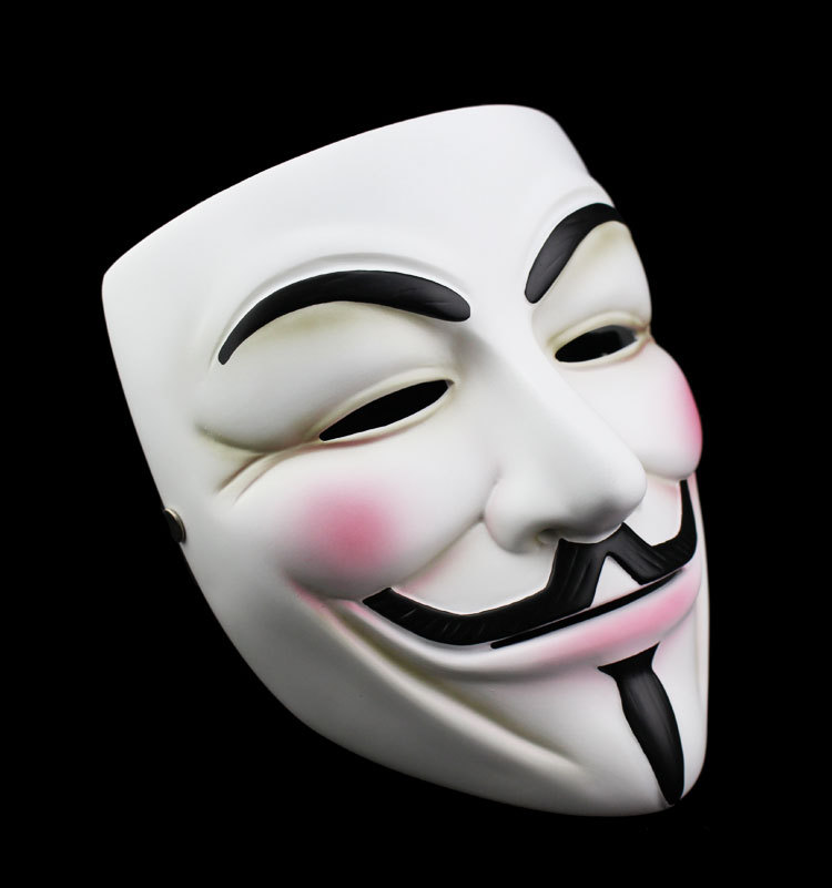 50pcs guy fawkes mask v for vendetta cosplay mask collect home decor party lenses anonymous - Pictures of anonymous mask ...