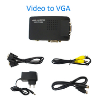 Universal Composite Video AV S-Video RCA to PC Laptop VGA TV Converter adapter switch box VIDEO TO VGA converter for Laptop