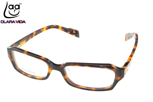 Vogue Sexy Leopard Designer Handmade Frame Full-Rim Optical Custom Made Optical Prescription Myopia Glasses Photochromic -1 To-6