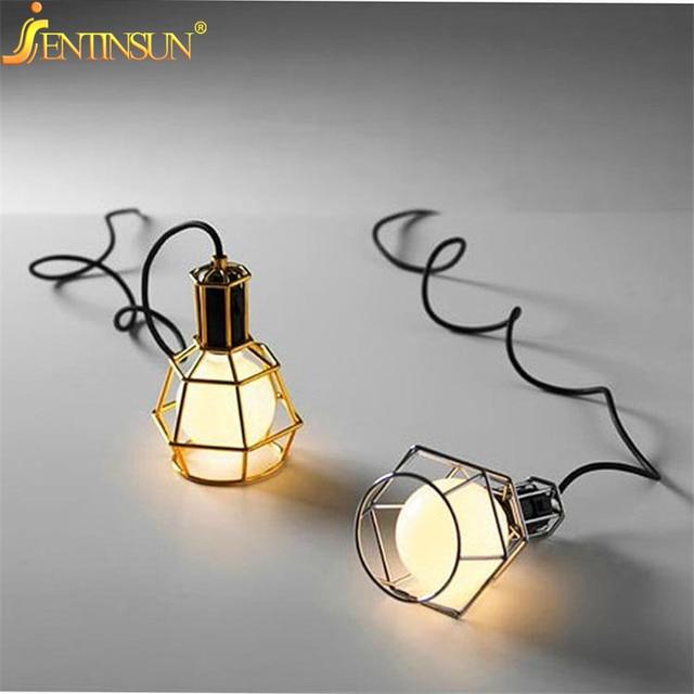 loft industrial iron cage. Vintage Industrial Iron Cage Pendant Light E27 Edison Lamp Nordic Retro Lights Lampshade Loft Metal Fixtures
