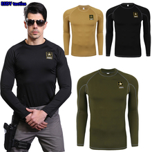2016 outdoor protection ESDY tactical training long sleeve sport T-shirt underwear wicking speed dry outdoor warm tight Shirt
