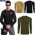 2016 proteção ao ar livre ESDY tactical formação de manga comprida esporte T - Shirt cueca absorção velocidade seca ao ar livre quente camisa apertada