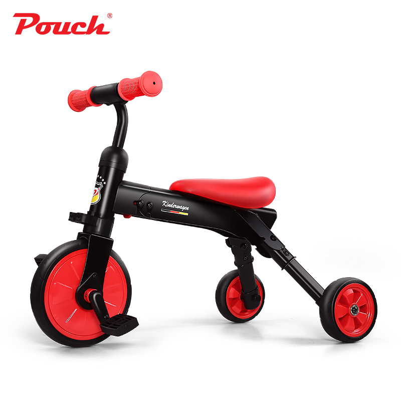 Pouch baby 3-6 years old kids three wheels bicycle can be folded and inflation-free EVA material wheels Pouch baby 3-6 years old kids three wheels bicycle can be folded and inflation-free EVA material wheels