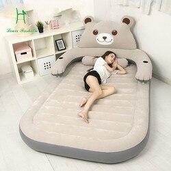 Louis Fashion Tatami colchón Totoro cojín doble par hogar portátil colchón inflable de cama de oso de dibujos animados en el piso