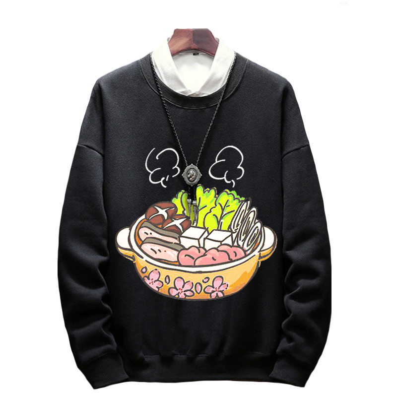 men casual Sweatshirts pull over high street fleece loose large size big 6XL 7XL 8XL autumn Sweatshirts hipster teens cotton-in Hoodies & Sweatshirts from Men's Clothing    1