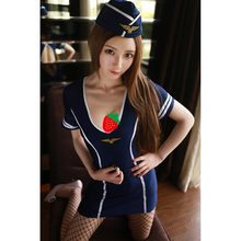 Costume sexy stewardess quality