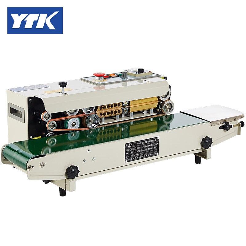 YTK FR-770 automatic horizontal bag sealing packing machine stainless steel