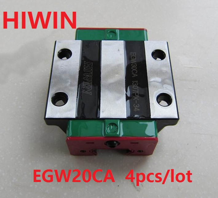 4pcs/lot 100% original HIWIN EGW20CA linear flange block for EGR20 linear guide rail for CNC router (only blocks) цена