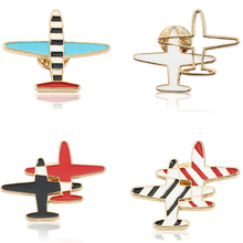 Fashion Small Colorful Aircraft Brooch Enamel Needle Cartoon Womens Denim Pin Buckle Shirt Christmas Ornaments