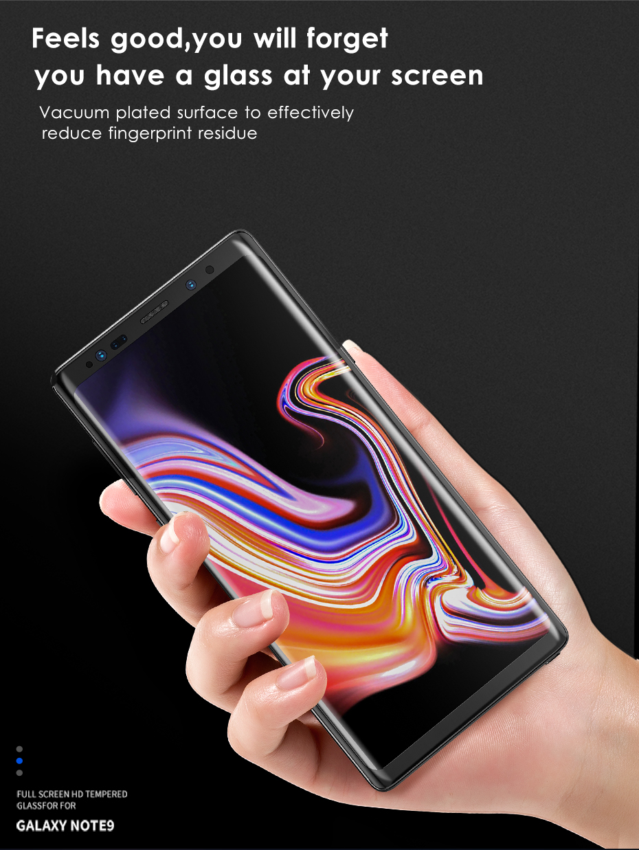 original Tempered Protective Glass Protector Curved Edges Full Covered Touch Screen Protection for Samsung Galaxy Note 8 9_03