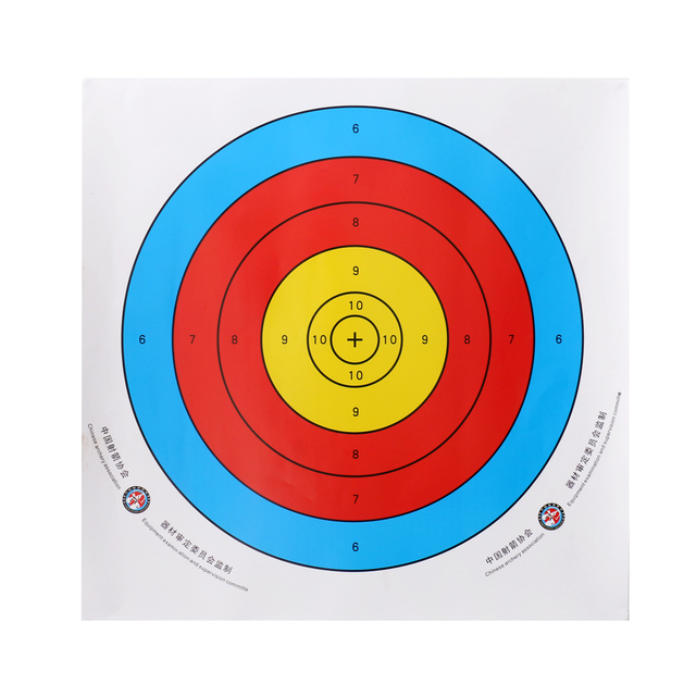 12 Pieces Professional Archery Target Paper For Recurve Bow Longbow 43x43cm Hunting Dart Accessories Full Ring Bow Arrow Gauge