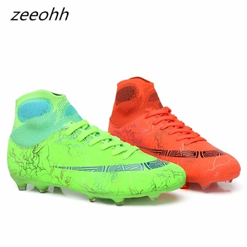 zeeohh High Top Soccer Cleats Shoes TF/FG Football Boots Long Spikes & Short Spikes Men's Ankle Football Shoes Sneakers Shoes AG 1
