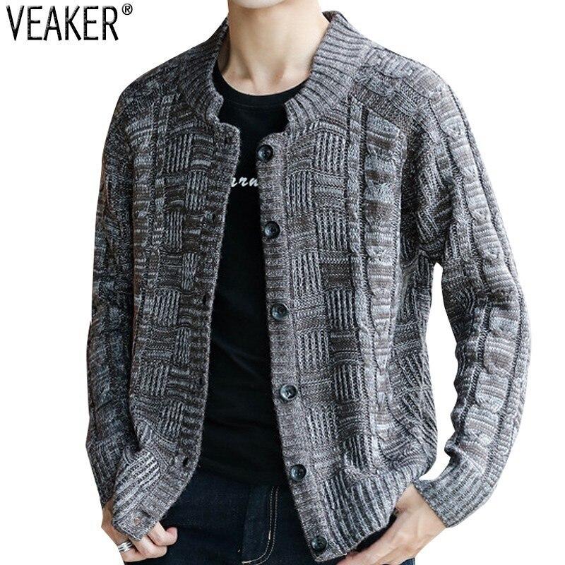 Analytisch 2018 Herbst Neue Männer Der Sweatercoat Slim Fit Gestrickte Pullover Jacke Männlichen Feste Beiläufige Strickjacke Pullover Oberbekleidung Mantel M-5xl