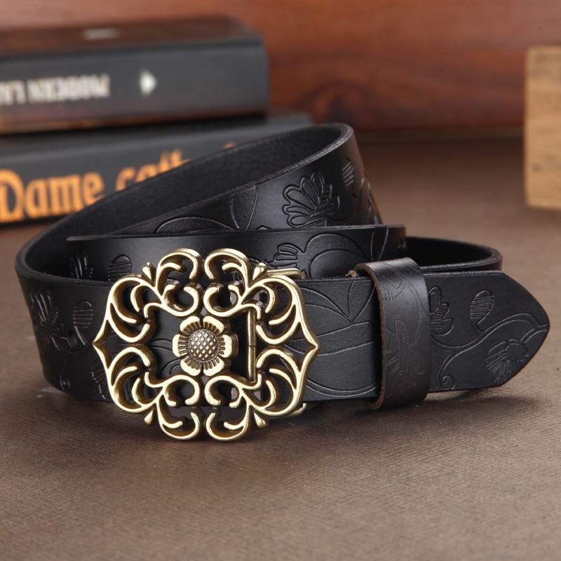 Cinturón de cuero genuino de las mujeres de DINISITON pantalones de - Accesorios para la ropa - foto 2